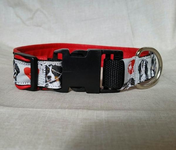 Bernersennen-Halsband, rotes Leder