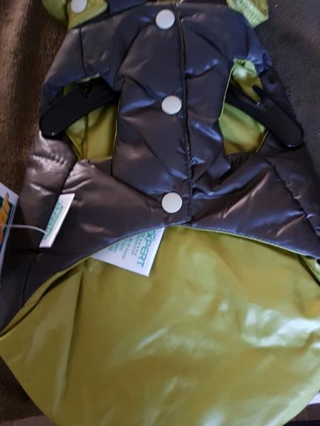 Leicht gefütterte Jacke mit Kapuze - RL 25 cm, hellgrün, braun