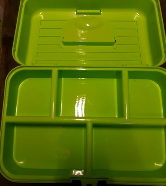 Kunststoff Aufbewahrungsbox, blau, für Allerlei, z.B. Aufbewahrung Haarspangen, Ausstellungsutensilien