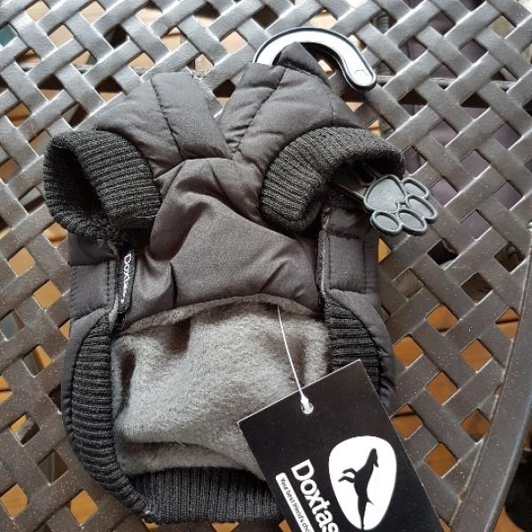 Winterjacke Wild Beast schwarz, weiß, XXXS, Zwerghunderassen